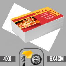 1.500 Cartões de visita coloridos frente em papel couche brilhoso 250g com verniz total na frente tamanho padrão 8X4cm