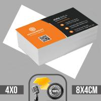 10 Mil cartões de visita coloridos frente em papel couche brilhoso 250g com verniz total na frente tamanho padrão 8X4cm