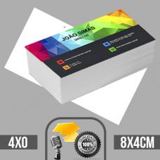 5 Mil cartões de visita coloridos frente em papel couche brilhoso 250g com verniz total na frente tamanho padrão 8X4cm