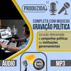 Gravação Política sendo produzida com locução profissional você pode escolher qualquer uma das vozes do nosso cast, vozes masculina, feminina, infantil ou caricata