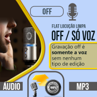Off com locução profissional só a voz limpa nesta gravação você pode escolher qualquer uma das nossas vozes do nosso cast, vozes masculina, feminina, infantil ou caricata