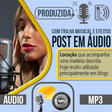 Post em Áudio produzido com locução profissional pode escolher qualquer uma das vozes do nosso cast, vozes masculina, feminina, infantil ou caricata