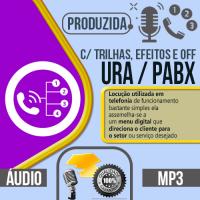 Chamada para URA / PABX auto atendimento virtual produzida com locução profissional pode escolher qualquer uma das vozes do nosso cast, vozes masculina, feminina, infantil ou caricata